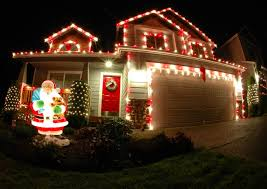 Outside Garage Lighting Ideas by Red And White Outdoor Christmas Lights Sacharoff Decoration