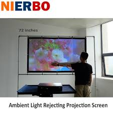 ambient light rejecting screen 72 inch 16 9 ambient light rejecting projection screen high gain