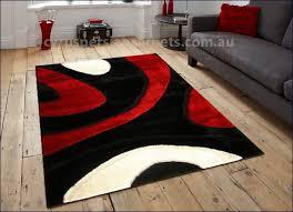 Modern Abstract Rugs Monte Carlo Abstract Shaggy Rug U003cbr U003e 3583 Black Red White Monte