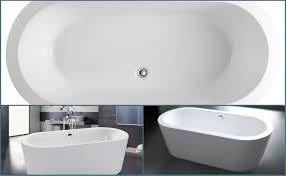 Acrylic Freestanding Bathtub Maykke Harrow 67 Inches Modern Oval Acrylic Bathtub Freestanding