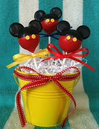 cake gift baskets mickey mouse cake pop birthday gift basket disney every day