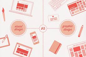 visual layout meaning the difference between visual design and graphic design
