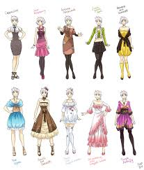 anime full body drawing with clothing manga clothes female