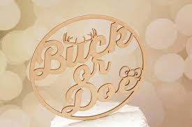 buck or doe gender reveal cake topper baby shower cake topper