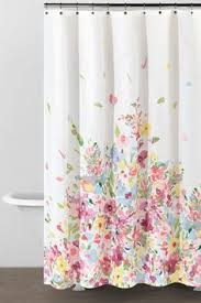 Flower Drop Shower Curtain Birds U0026 Flowers Cute Shower Curtain For The Home Pinterest