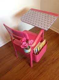 Vintage Kids Desk by Sew Much More Than Rubies Vintage School Desk Re Do