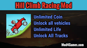hill climb racing motocross bike hill climb racing mod unlimited coin unlock all vehicles