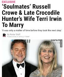 Marriage Caption Russell Crowe Terri Irwin Not Getting Married Despite Late And