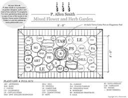 Herb Garden Layout Mixed Flower And Herb Garden