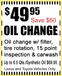 lexus coupons for change specials lexus and toyota service 239 260 1038