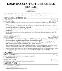 Logistic Coordinator Resume Sample by Resume Format For Logistics Officer Resume Format