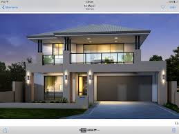 Two Floor House Plans by Two Storey House Facade Grey And Black Balcony Over Garage