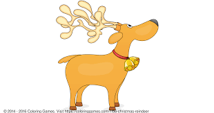 christmas reindeer coloring games and coloring pages