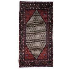 Wide Runner Rug Shahbanu Rugs Knotted Hamadan Camel Hair Wide Runner