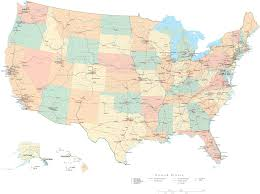 United States Map With Interstates by High Resolution Usa Maps Maps Of Usa North America Map Of North
