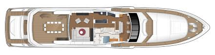 Yacht Floor Plan by Princess 40m