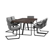 Ergonomische B Om El En Casa Esstisch Eiche Dunkel Mit 6 Stühlen 180x100 Tisch Stühle