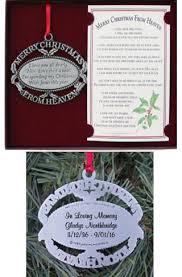 merry christmas from heaven keepsake memorial christmas ornaments