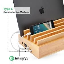 amazon com avantree 10 port bamboo charging station for multiple
