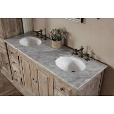 Marble Bathroom Vanity Tops by Legion 60 Inch Rustic Double Sink Bathroom Vanity Wk1860 Marble Top