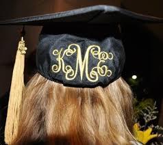 monogram graduation cap graduation cap graduation 16 cap monograms and