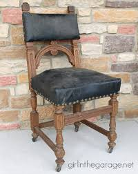 Vintage Leather Chairs Painted Leather Chair Makeover With Annie Sloan Chalk Paint