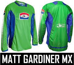 jt racing motocross gear jt racing als pro tour motocross mx jersey shirt green blue retro