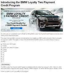 bmw payment 2016 bmw loyalty 2 payment credit program