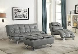 Livingroom Chaise by Dilleston Futon Style Living Room Set From Coaster 500096