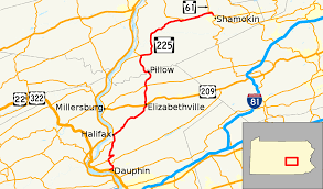 Appalachian Trail Pennsylvania Map by Pennsylvania Route 225 Wikipedia