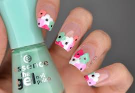 nails negative space flowers manimonday cosmetic proof