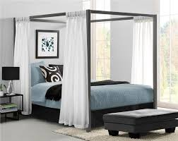 dhp furniture modern canopy metal bed
