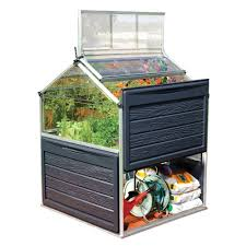 Mythos Silverline Greenhouse Palram Harmony 6 Ft X 4 Ft Polycarbonate Greenhouse In Silver