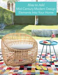 get the elements of a mid century modern look fresh american style