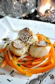 cuisine coquille jacques noix de jacques à la truffe blanche d italie la cuisine de doria