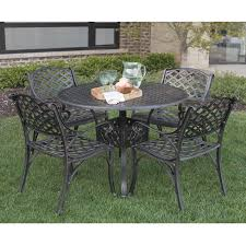 Aluminum Patio Dining Set Walker Edison 42 Cast Aluminum Patio Dining Table Reviews