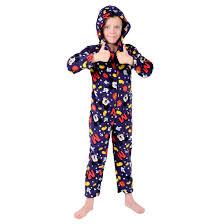 disney mickey mouse boys navy onesie pyjamas ages 2 7