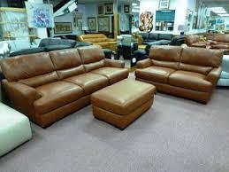 Cognac Leather Sofa by Natuzzi By Interior Concepts Furniture Natuzzi Editions B674