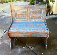 Shabby Chic Blue Paint by Chippy Paint Bench Seat French Country Blue Shabby Chic Bench W