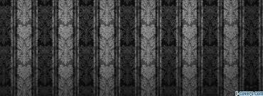 black and grey floral stripes cover timeline photo