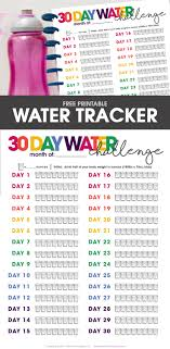 And Water Challenge Printable Water Tracker Free Printable Included