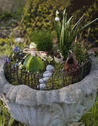 miniature fairy gardens ideas christmas lights decoration