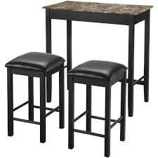 chair lovely dorel living devyn 3 piece faux marble pub dining set