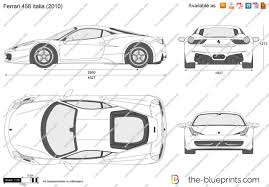 car ferrari drawing the blueprints com vector drawing ferrari 458 italia
