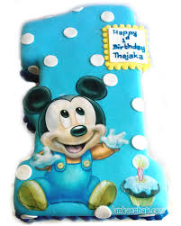babys 1st cake with mickey mouse kids cake 4lb online shopping