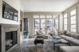 Decor Pad Living Room by Gray Living Room With Gray Striped Marble Fireplace Contemporary