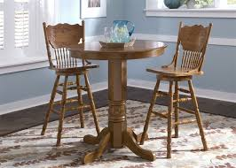 30 Inch Round Kitchen Table by Nostalgia Round Pub Table 3 Piece Dining Set With 30 Inch Press