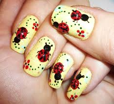 3d gel ladybugs nail art design youtube