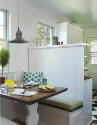 kitchen style white retro kitchen booth seating with cool kitchen