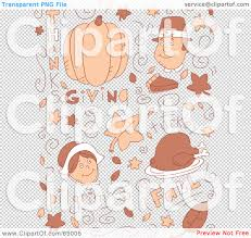 thanksgiving items royalty free rf clipart illustration of a brown holiday doodle